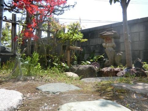 実家の中庭