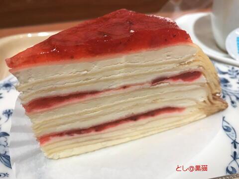 苺とマスカルポーネのミルクレープ