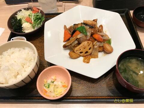 大戸屋 真鱈と野菜の黒酢あんかけ