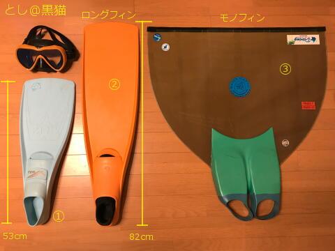 フィンの比較