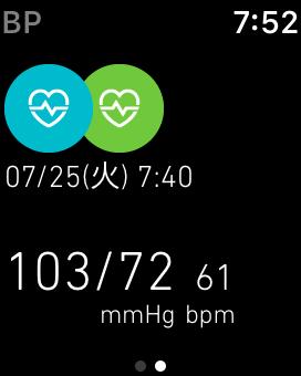 Apple Watch 2に、血圧が表示される