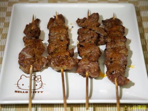 生ラム肉で羊肉串