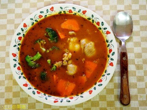 自作 チキン スープカレー